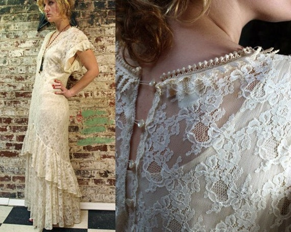 Lorrie Kabala Boho Wedding Gown M