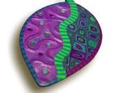 Purple Leaf Brooch