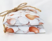 Scented Sachet Bags, Brown and White Chicken Eggs, Country Kitchen Decor