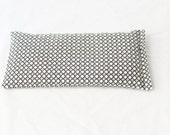 Handmade Flax Seed Pillow, Organic Lavender Zen Gift, Gray & White Geometric Eye Pillow