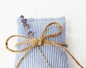 Nautical Wedding Favors, Blue and White Stripe Lavender Bags, Seaside Cottage Decor