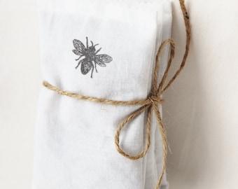 Organic Lavender Sachet Bags, Eco Friendly Wedding Favors, Mint to Be Honey Bee Secret Garden Farm Wedding