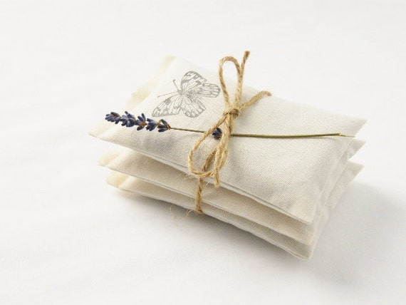 Butterfly Lavender Sachets, Romantic Home Decor, Cotton Anniversary Gifts for Her