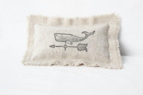 Whale Lavender Sachet with Rose & Jasmine Flowers - Nautical Decor Pillow Sachet - Rustic Beach Wedding Favor