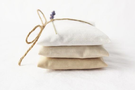 White Ombre Lavender Sachets - Modern Minimalist Decor - Scented Drawer Sachets