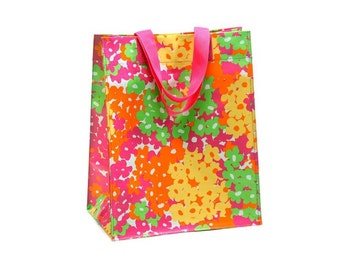 Reusable Grocery Bag - Eco Friendly - Floral Shopping Bag -  FREE MONOGRAMMING