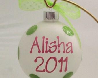 Christmas Ornament - Personalized Ornament - Monogrammed Ornament - Holiday Ornament - Christmas in July - Ornament