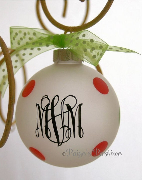 Christmas - Personalize Ornament - Monogrammed Ornament - Holiday Ornament - Christmas Ornament - Engagement Ornament