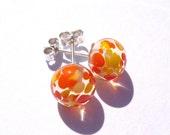 Oranges and lemon earrings - REDUCED