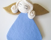 Sweet blue Angel, Handmade, acrylic painted