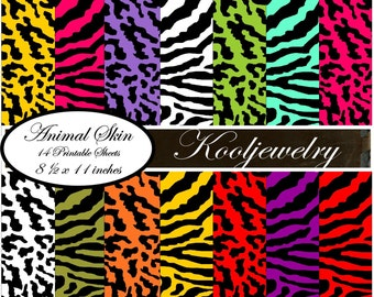 Animal Skin Digital Paper Pack - No.45