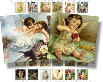 Lovely cupid images for pendant, scrapbook and more collage sheet No.166