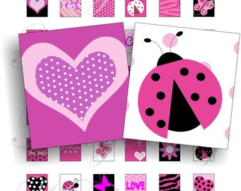 Cute bugs designs for scrabble pendant, scrapbook and more Size 0.75x0.83 inch Digital Collage Sheet No.278