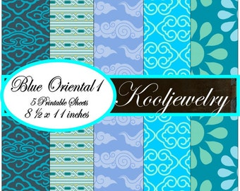 Oriental blue paper pack - No.46
