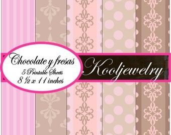 Chocolate y Fresas Paper Pack - No.38
