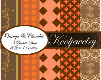 Orange and chocolat paper pack - No.34