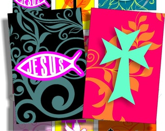 Jesus is my Life images for cards, ACEO, ATC, scrapbook and more Digital Collage Sheet 3 X 2 inch No.851