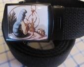 Alice In Wonderland Hookah Smoking Caterpillar Belt and Buckle Adjustable Size