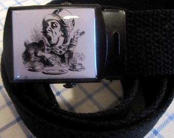 Alice In Wonderland The Mad Hatter Adjustable Size Belt and Buckle