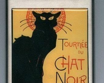 Chat Noir Black Cat 6 OZ Stainless Steel Liquor Hip Flask Vintage Poster