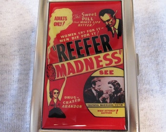 Reefer Madness Cigarette or Card Case or Wallet