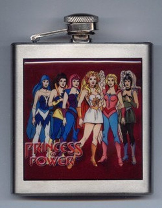She-ra Shera Princess Of Power Stainless Steel Liquor Hip Flask