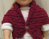 Knit Pattern for 18 inch American Girl Dolls Turtleback Sweaters Set of 2 plus free gift Instant Pattern Download now available