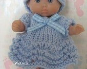 Knit Pattern Cute Dress Set for 5 inch Berenguer itty bitty baby doll feather n fan pattern Instant Download now available