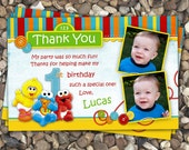 Sesame Street Babies Birthday Thank You Card Personalized DIY Printable