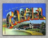 Vintage Carmel California Postcard Save the Date