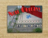 New Orleans Tile Vintage Postcard Save the Date