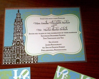 Philadelphia Wedding Invitation Save the Date