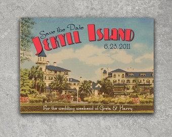 Vintage Jekyll Island Georgia Postcard Save the Date