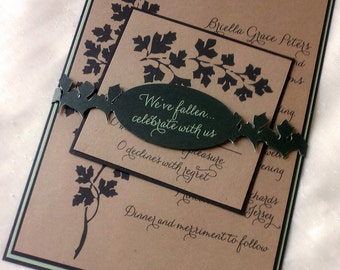 Leaf Wedding Invitation or Save the Date