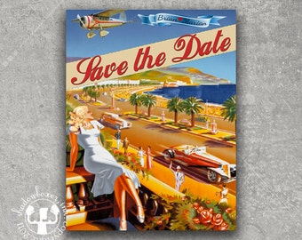 Vintage Los Angeles Postcard Save the Date