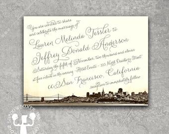 Vintage San Francisco Invitation Save the Date