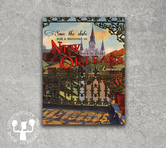 New Orleans St. Louis Cathedral Post Card Save the Date