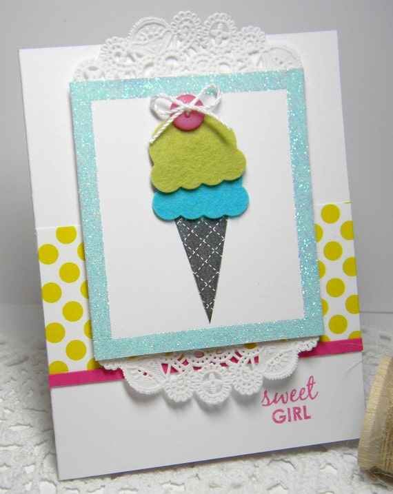 Sweet Girl Handmade Card