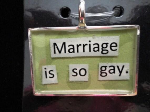 Gay Marriage Pendant