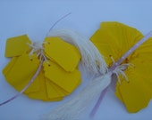100 Small Price Tags in Bright Yellow
