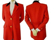 Vintage J PETERMAN Made in USA Red Equestrian Style Jacket 8