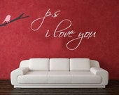 PS I love you vinyl decal wall sticker