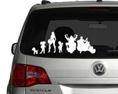 Zombie Harley Motorcycle stick family decal