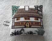 A beautiful pincushion handmade fom the V and A collection .. Country farmhouse ....