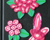 Secret Garden of Flowers - custom order journal cover of polymer clay