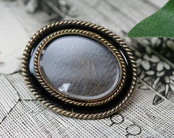 Brooch-10k Rolled Gold Victorian Mourning Pin
