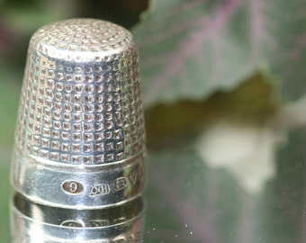 Thimble-Antique Sterling Charles Horner Thimble