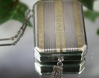 Sterling and 18k Powder and Mirror Compact- JE Blake Co
