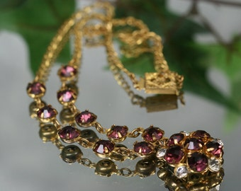 Vintage Goldtone and Rhinestone Necklace