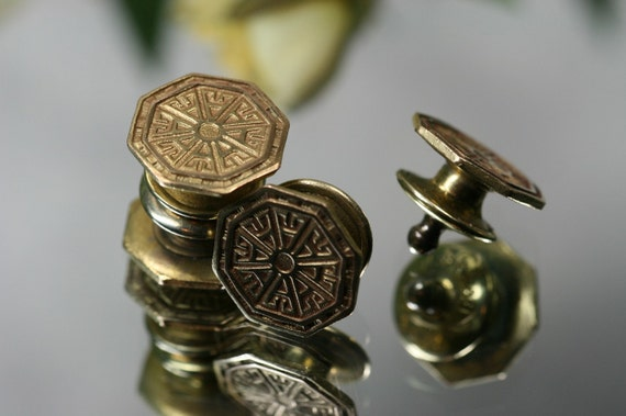 Cufflinks- Vintage Goldtone Kum-a-Part Cufflinks